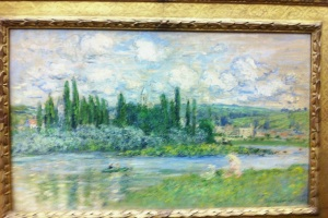 C. Monet. View of Vétheuil-sur-Seine. 1880