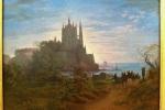K.F. Schinkel Gothic Church on a roch by the sea. 1815