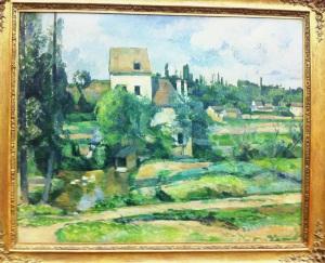 P. Cézanne. Muhle an der couleuvre bei Pontoise. 1897