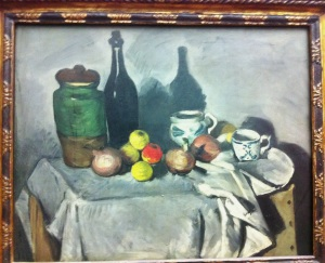 P. Cezanne- Still life with fruit and Crockery. 1906