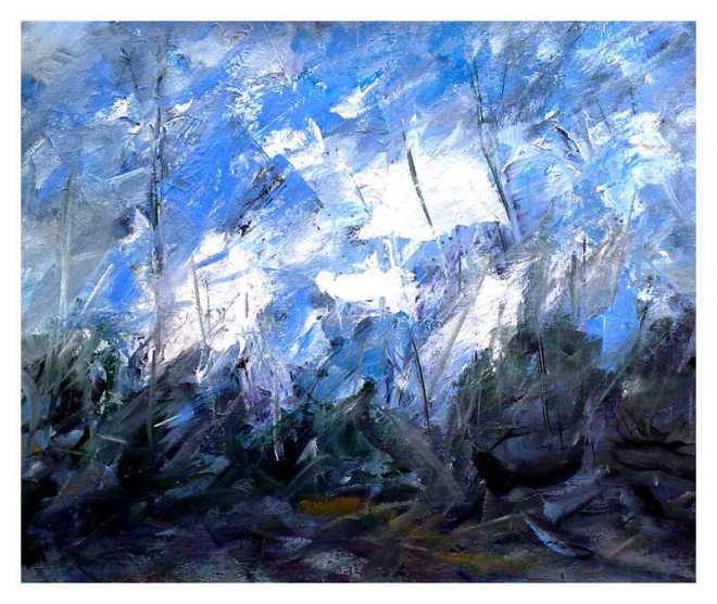 Winter blue lights